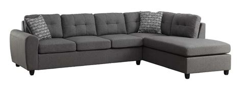 tufted sofas clearance stonenesse grey contemporary reversible sectional with