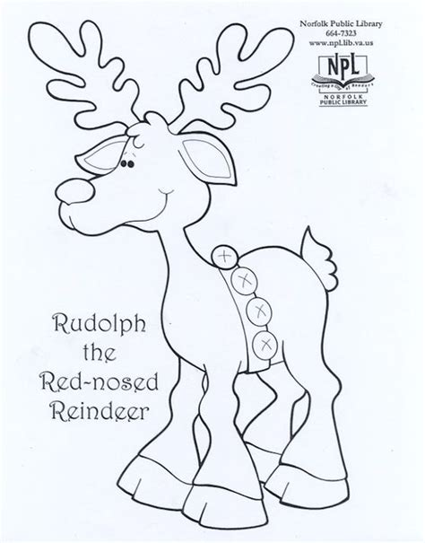 coloring pages deer rudolph rudolph christmas coloring pages pinterest renne
