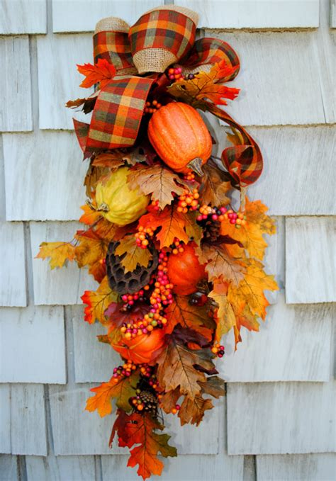 fall wreath swag autumn harvest wreath for by