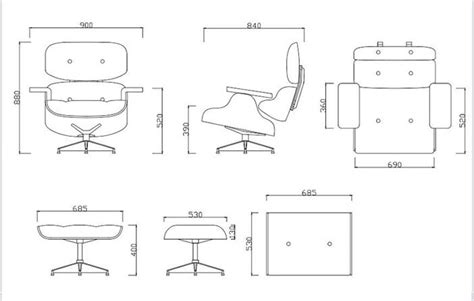 Eames Lounge Chair Measurements by Lounge Chair Stunning Eames Lounge Chair Measurements Hd