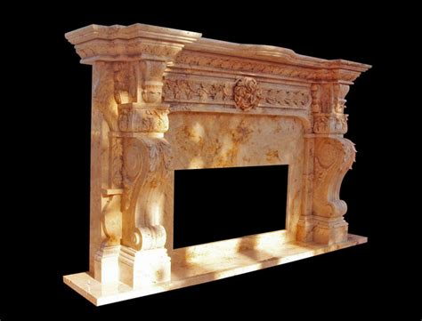 Italian Marble Fireplaces by Carved Italian Marble Fireplace Surround Custom