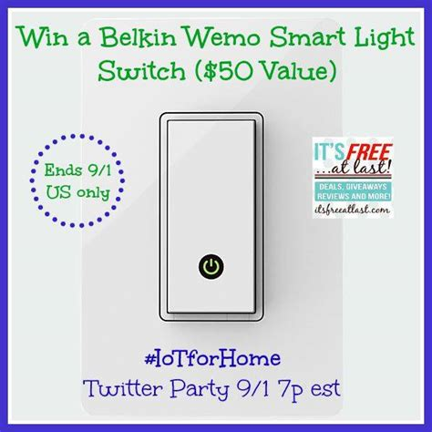 Smart Giveaways Emails - verizon wireless belkin wemo smart light switch giveaway it s free at last