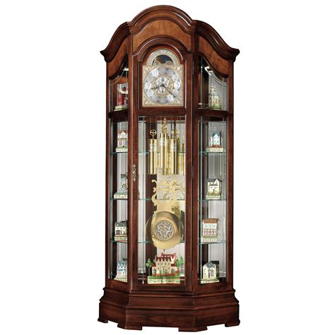 Howard Miller Majestic Curio Grandfather Clock Curio
