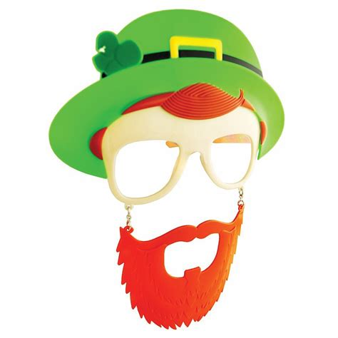 printable leprechaun mask st patrick day leprechaun mask glasses sunglasses sun
