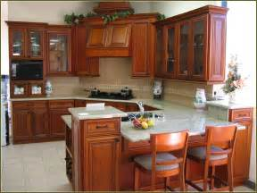 natural cherry cabinets with granite home design ideas