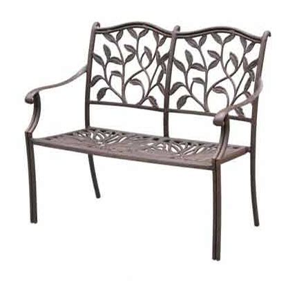 outdoor loveseat bench patio furniture bench cast aluminum loveseat ivyland