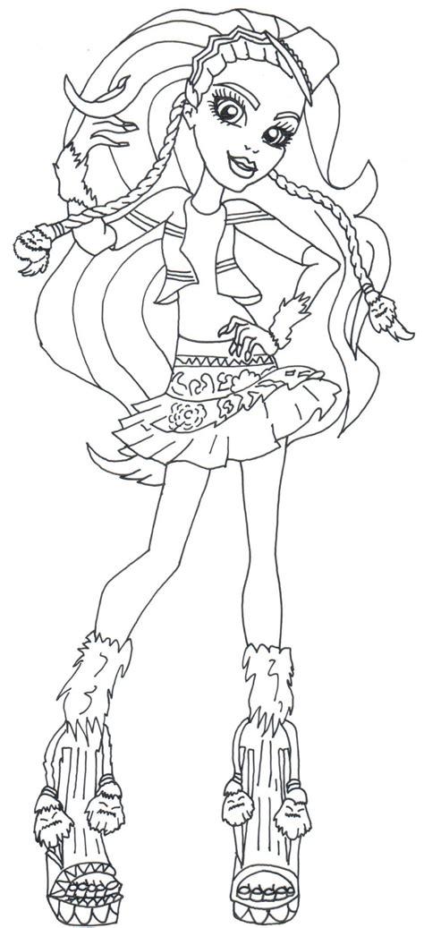 monster high gooliope coloring pages marisol coxi monster high coloring pages png 731 215 1600