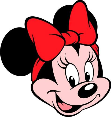 minnie mouse face template clipart best