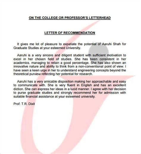 Letter Of Recommendation For Engineering Scholarship 55 free recommendation letter template word sle