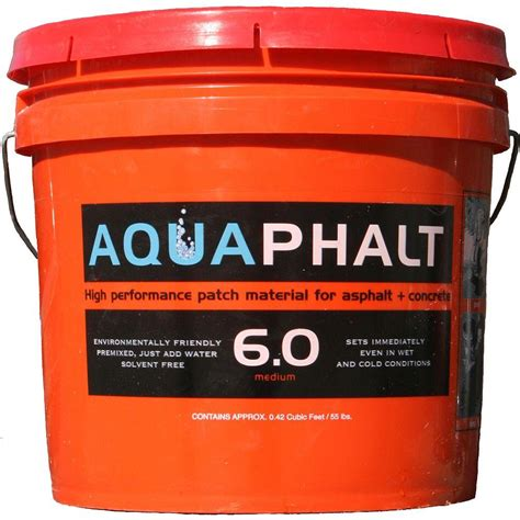 aquaphalt 3 5 gal permanent asphalt repair patch black