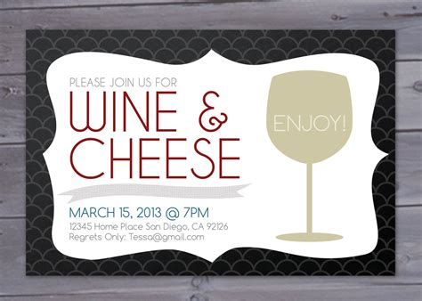 wine and cheese invitation template wine and cheese invitation printable