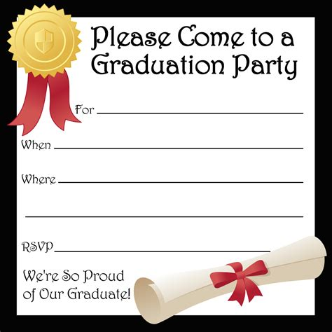 free templates for creating invitations create own graduation party invitations templates free
