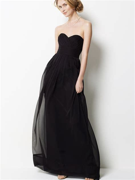 chiffon strapless long bridesmaid dress wedding beta