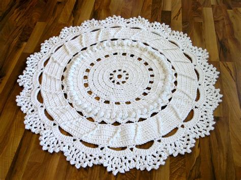 free crochet patterns for rugs doily rug free pattern by danceswithwools aka trish 45 inches across 9 skeins s