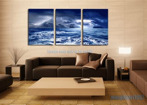 room canvas large sea water canvas painting poster print no frame living room decor ebay