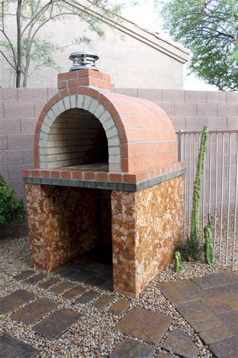 the louis family wood fired brick pizza oven in california