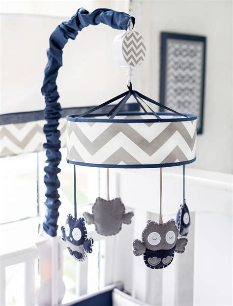 Blue Crib Mobile by Navy And Gray Crib Mobile Navy Crib Mobile Gray Baby