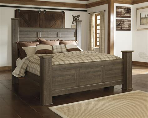 ashley juararo  king size poster bedroom set  night stands casual style ebay