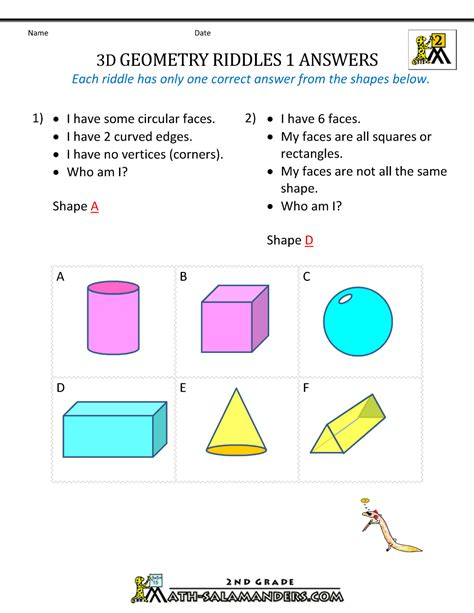 Identifying Faces Edges And Vertices Worksheet by 3d Shapes Names Faces Edges And Vertices Www Imgkid