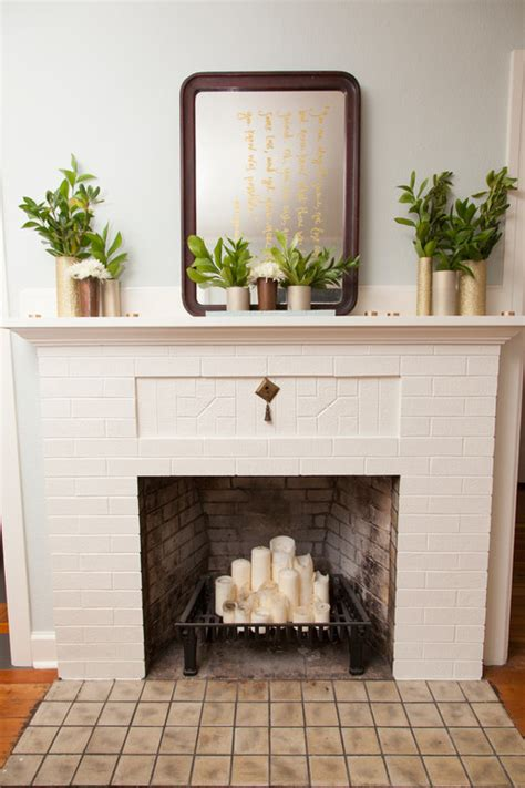inside fireplace decor 10 ways to decorate your fireplace in the summer since