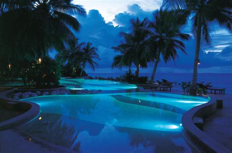 blue pool  night pictures   images