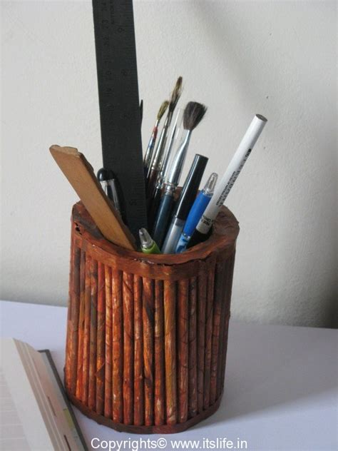 How To Make Pen Stand Using Paper - how to make a pen stand with paper 28 images recycled