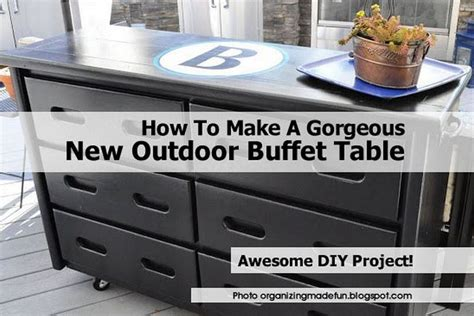 how to make a gorgeous new outdoor buffet table