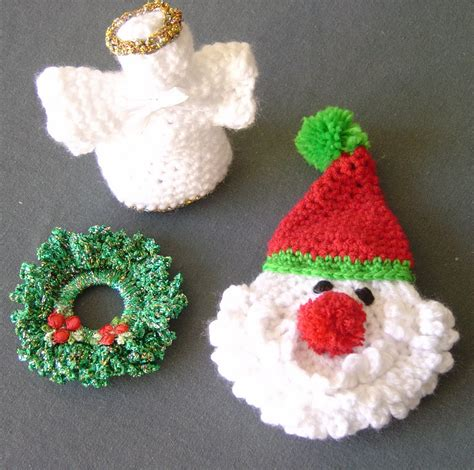 enthusiastic crochetoholic christmas ornaments