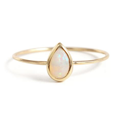 ring bands for jewelry opal teardrop ring catbird
