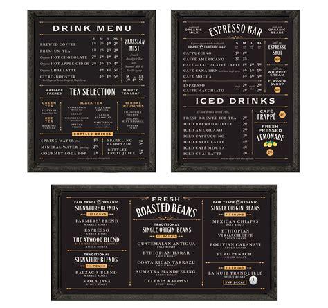 cafe menu boards design balzac s coffee roasters menu boards delights