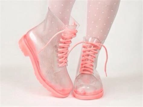 shoes doc martens drmartens transparent pink