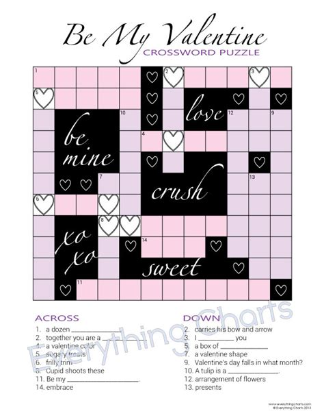 valentines day gifts for him crossword puzzle book valentines gifts for him valentines gifts for boyfriend or husband books valentine s crossword everything charts and