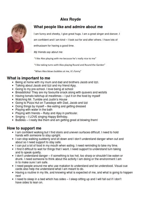 how to section a person hsa education health care plan one page profile transition sen
