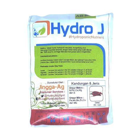 jual hydro j ab mix cabe hidroponik nutrisi tanaman white 250 g harga kualitas