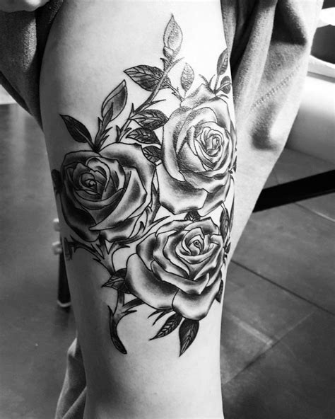 the girl with the rose tattoo with thorns for www pixshark