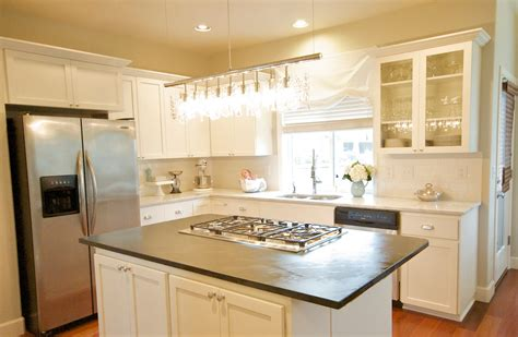 small kitchen with white cabinets the best material for kitchen flooring for dark cabinets