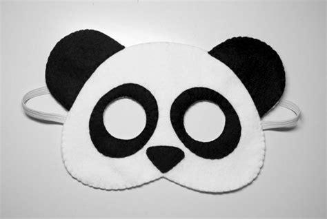 printable panda mask template panda bear felt mask white black handmade woodland animal