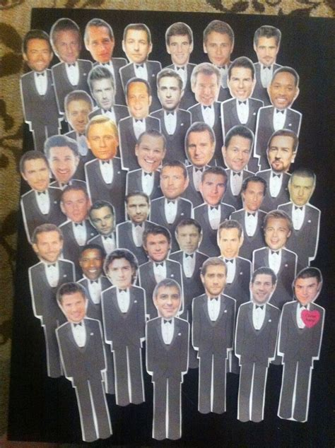 Who Has the Groom Bridal Shower Game. Stick tuxedo men in