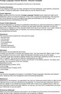 Cv In Language Sle Foreign Language Resume Sales Lewesmr