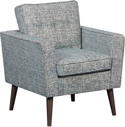 mid century accent chair mid century modern lagoon textured accent chair from
