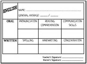 Esl Report Card Template by Enjoy Teaching Report Card Template