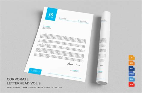 psd letterhead template letterhead stationery templates