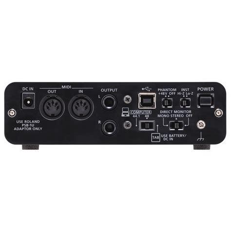 Usb Audio Capture roland duo capture ex usb audio interface at gear4music
