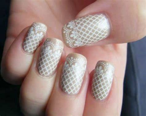 Wedding Bell Nail Design by Lace Accents For Your Wedding Weddingbells