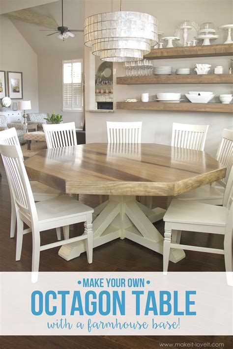 ana white octagon dining room table diy projects diy octagon dining room table with a farmhouse base