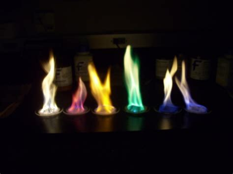 different color flames colored flames chemistry demonstrations