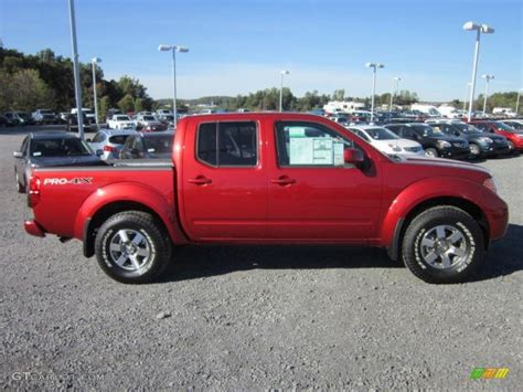red nissan frontier lava red 2012 nissan frontier pro 4x crew cab 4x4 exterior