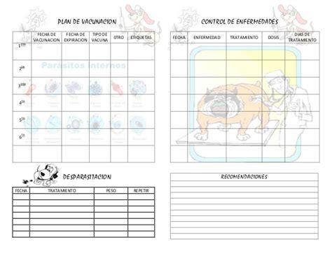 Calendario Canino Carnet Vacunacion Perros Imagui