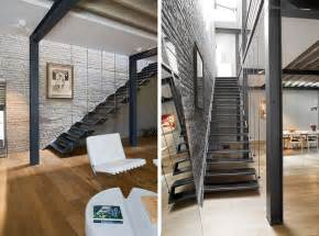 Industrial Stairs Design Residence In Brussels Dazzles With An Industrial Chic Makeover