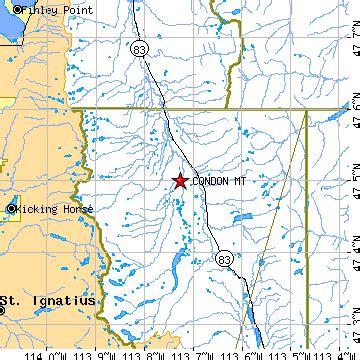 condon, montana (mt) ~ population data, races, housing